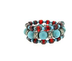 Lumoi have a lovely selection of jewellery handmade using a mix of recycled and new materials, such as this beautiful Silver Plate Turquoise & Red Wrap Bangle (£20) made using chunky turquoise beads with a black marble detail. Lumoi also recycles unwanted jewellery and will give you a voucher to spend on a new piece. http://www.lumoi.com/