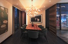The NEMO Crown Major Suspension Light and the Minotti Aston Dining Chair as seen on the set of Fifty Shades Darker Amazing Decor, Fifty Shades Darker, Dream Apartment, Elegant Homes, Dream Rooms, Architectural Digest, House Rooms, Luxury Living, Home Remodeling