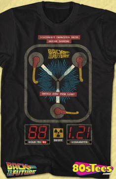 576f349f6 Flux Capacitor Back To The Future Shirt The Future Movie, Back To The  Future,