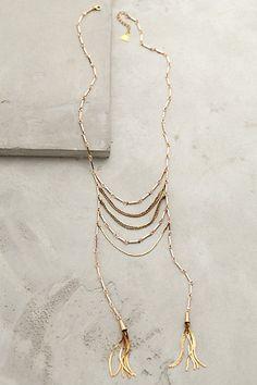 """Tassel Blaze Necklace - anthropologie.com  22"""",9"""" pendent"""