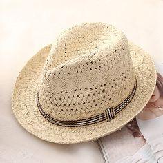 Straw Fedora, Fedora Hat, Stetson Fedora, Mens Straw Hats, Kids Hats, Hats For Men, Ibiza, Layered Pearl Necklace, Retro Kids