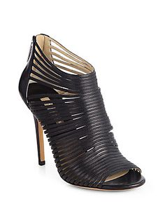 60d7559237aff9 Michael Kors Collection - Maxi Multi-Strap Leather Sandal Ankle Boots
