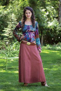 Jayli Imports, Inc. - Cotton Long Cargo Pocket Skirt, $39.00 (http://www.jayli.com/cotton-long-cargo-pocket-skirt/)