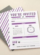Slew of free printables (invitations, cards, tags, calendar, candy bar wrapper, etc)