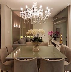 Enjoy Modern Home Decor Throughout Your Home Dining Room Design, Dining Room Table, Kitchen Design, Dinner Room, Easy Home Decor, Modern Interior Design, Room Interior, Home And Living, Living Room Decor