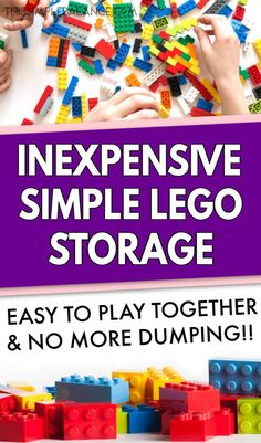 LEGO organization systems are often SO complicated that kids can't play well with them AND they can't put them back. This LEGO organization system is simple and effective - no more LEGO bricks dumped out everywhere! Home Organization Hacks, Organizing Life, Cheap Lego, Family Schedule, Lego Storage, Kids House, Bricks, Legos, Kids And Parenting