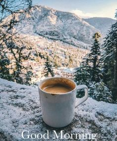 No long captions, just enjoying first snow of the year with some piping hot coffee.