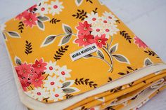 floral girl baby/toddler blanket by MamaMandolin on Etsy