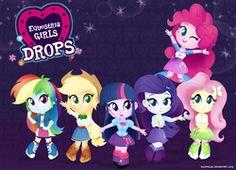 equestria girls drops by egophiliac My Little Pony Princess, My Little Pony Twilight, My Little Girl, My Little Pony Fotos, My Little Pony Pictures, Cute Disney Drawings, Equestrian Girls, Princess Celestia, Mlp Pony