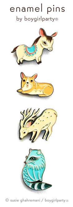 Enamel Pins by Boygirlparty / Susie Ghahremani @boygirlparty -- available at http://shop.boygirlparty.com