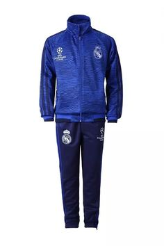 cca1aa08b6e boutique equipe de france Champions League Survetement de foot Real Madrid  Enfant Bleu 2015 2016 sport