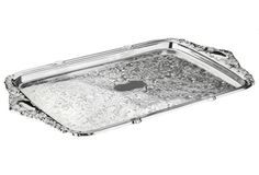 Silver-Plated Tray w/ Integral Handles