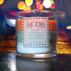 Jacob scented 4 oz candle: grandmas orange paczki, erumpent musk, & obliviating rain