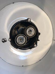 Black Enamel Factory Lamp Industrial Lamps, Black Enamel, Vacuums, Home Appliances, House Appliances, Black Polish, Domestic Appliances, Vacuum Cleaners