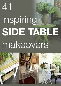 41 inspiring side table makeovers