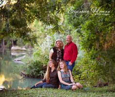 Portraits by the river by Master Photographer Elizabeth Homan, Artistic Images. #familyportraits #sanantonio E-blog: Fall Family Portrait Options {San Antonio Family Photographer}