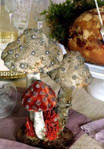 love these fabric mushrooms