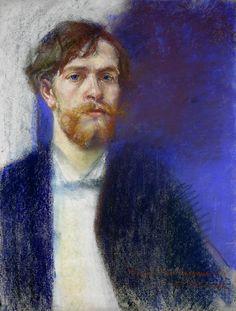 Self-portrait in Sapphire Blue, Stanisław Wyspiański