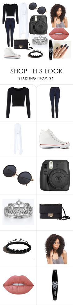 """Taking Polaroids"" by victoria1221 ❤ liked on Polyvore featuring Topshop, Bebe, Converse, Jimmy Choo, Shamballa Jewels and Lime Crime"