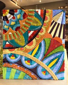 View as a webpage Mosaic Tile Art, Mosaic Pots, Mosaic Artwork, Mosaic Crafts, Mosaic Projects, Stained Glass Projects, Mosaic Glass, Mosaic Stepping Stones, Stone Mosaic