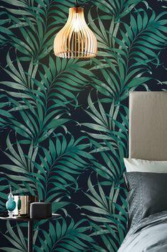 Tropical Wallpaper, Retro Wallpaper, Wallpaper Samples, Pattern Wallpaper, Basic Colors, Colours, Designer Wallpaper, Decoration, Design Elements
