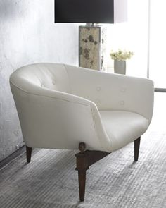 Shop White Scoop Chair from Global Views at Horchow, where you'll find new lower shipping on hundreds of home furnishings and gifts. Furniture Market, Luxury Furniture, Modern Furniture, Furniture Design, Fine Furniture, Furniture Dolly, Furniture Showroom, Furniture Stores, Cheap Furniture