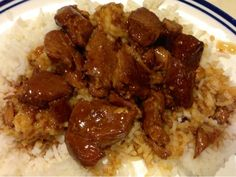 Crockpot Bourbon Chicken - easy, delicious meal made in your crockpot while you are away. Serve over rice for a complete dinner. MismashedMom recipe