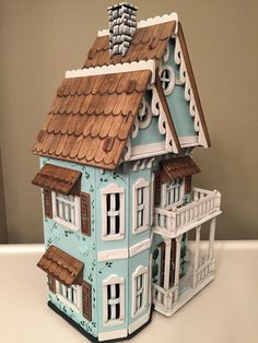 Victorian Hand Painted Lady Wooden Dollhouse by judipflynn on Etsy