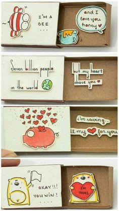 Birthday diy crafts valentines Ideas – Presents for boyfriend diy Valentines Bricolage, Valentine Crafts, Valentines Diy For Him, Handmade Valentine Gifts, Valentine Ideas, Valentine Decorations, Birthday Diy, Birthday Gifts, Matchbox Crafts