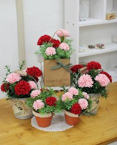 How to DIY Easy Felt Carnation Flower Basket | www.FabArtDIY.com LIKE Us on Facebook ==> https://www.facebook.com/FabArtDIY