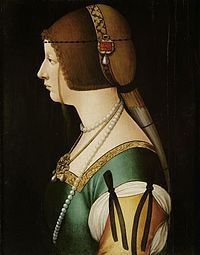 Bianca Maria Sforza (1472 - 1510). Holy Roman Empress from 1508 until 1510. She was married to Maximilian I.