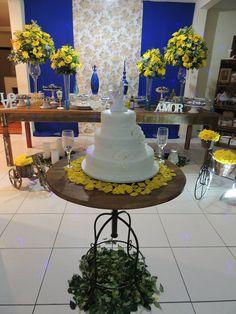 Focus Festas e Eventos   Azul Royal e Amarelo - Demolição
