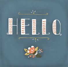 Hello Floral Print