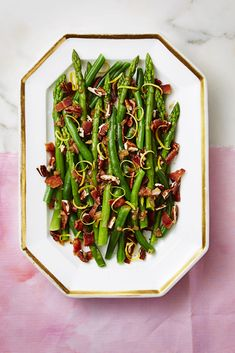 Nutty Green Beans and Asparagus with Bacon goodhousemag