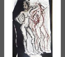 12-Mustafa AYAZ (1938)  Kontraplak üzerine kar. tek.  70 x 48 cm  5.000 TL