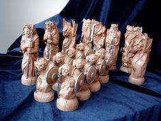Шахматы_2004г (часть1) | Резьба по дереву, кости и камню