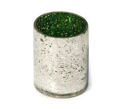 #Buy #Wholesale #Handmade #CrackledGlass #Tealight Holder / #CandleHolder in #Silver & Neon #Green