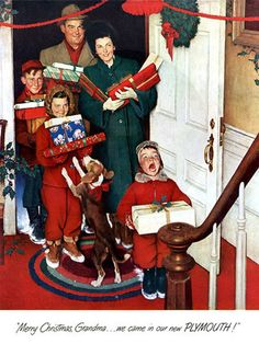 plan59 :: retro vintage 1950s christmas ads and holiday art..Norman Rockwell