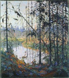 Tom Thomson, Northern River, 1915 - The Group of Seven / Algonquin School Group Of Seven Artists, Group Of Seven Paintings, Emily Carr, Canadian Painters, Canadian Artists, Landscape Art, Landscape Paintings, Tom Thomson Paintings, Catalogue Raisonne