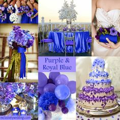 Purple and Royal Blue Wedding - Click to Enlarge