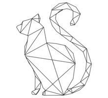 geometric cat - Google zoeken