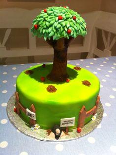 Apple Tree Cake ~ Garden Cake ~ Mole Hills