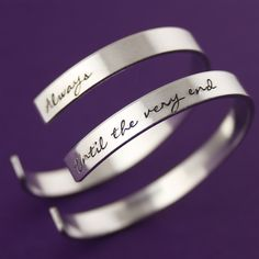 Always & Until the Very End Cuff Bracelets - Spiffing Jewelry - Harry Potter