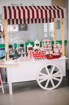 """Beverage Cart from ABC's """"Once Upon a Time"""" Inspired Birthday Party on Kara's Party Ideas 