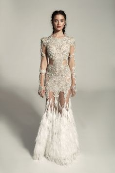 Birds of a Feather: 38 Feathered Wedding Gown Styles