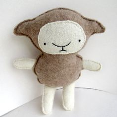 Brown Lamb - Recycled Cashmere Plush Toy via Etsy