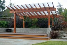 Pergola with PolyGal...keeps the rain out, but allows all of the light through