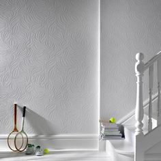 Eden White Wallpaper - Leaf Wall Coverings by Graham  Brown