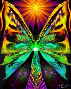"""""""The Butterfly Effect"""" is an angel art print in my energy healing line of reiki infused wall decor. This reiki angel art print would be a beautiful addition to a meditation room, yoga studio, energy h"""