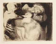 Käthe Kollwitz - Tod und Frau um das Kind ringend